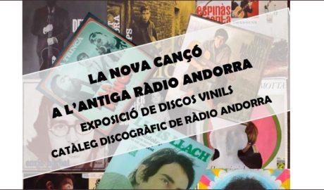 Part del cartell de l'exposició 'La nova cançó a l'antiga Ràdio Andorra'