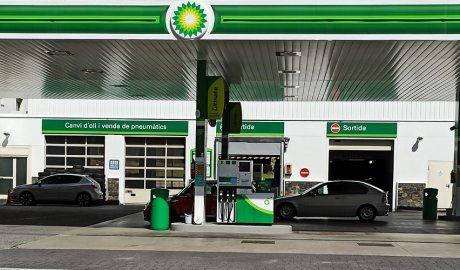 Una gasolinera