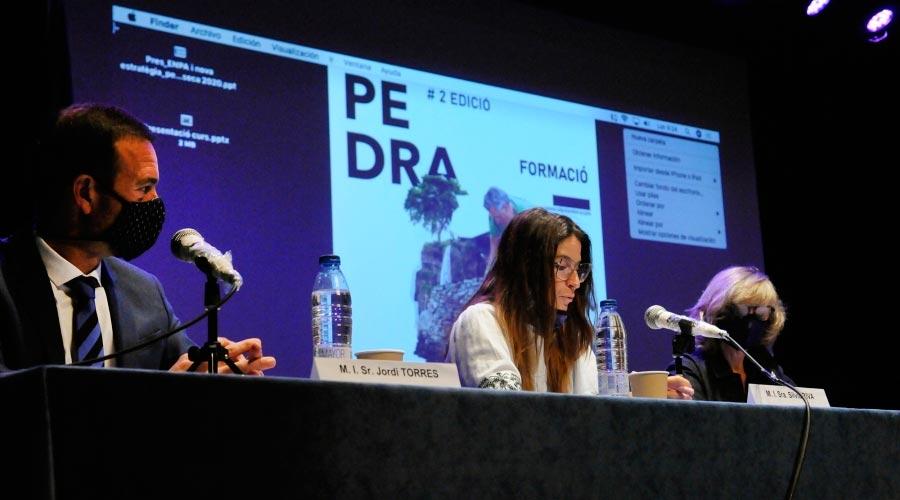 Jordi Torres i Sílvia Riva presenten la segona edició del Curs de Pedra Seca