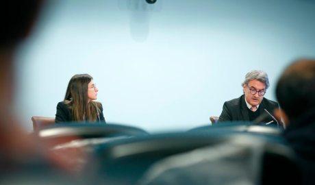 Sílvia Riva i Justo Ruiz en roda de premsa