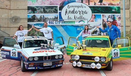 Els dos equips vencedors del 49 Ral·li d'Andorra Històric