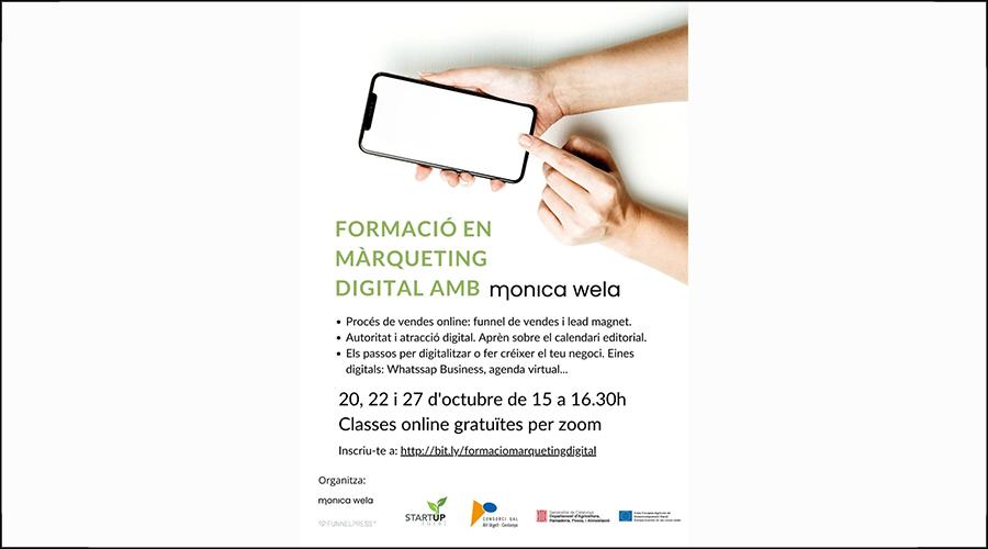 Cartell promocional del curs online de màrqueting digital