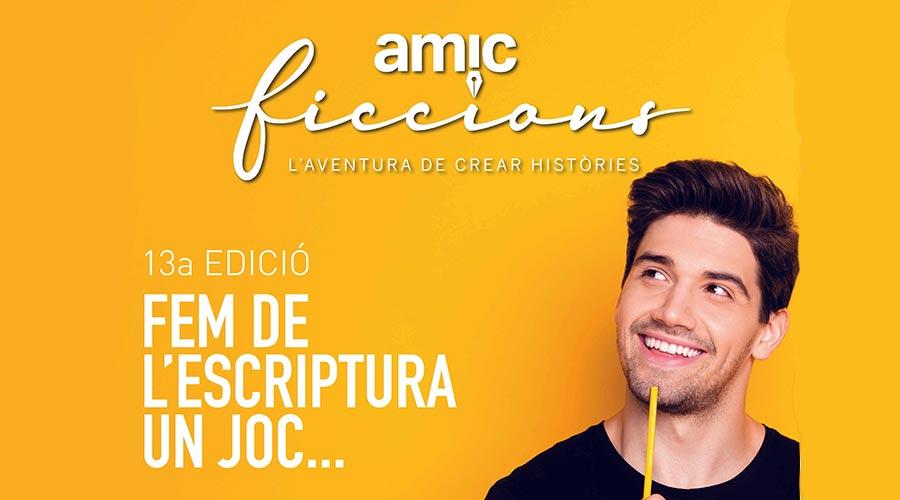 Part del Cartell de la 13a edició del concurs AMIC-FICCIONS