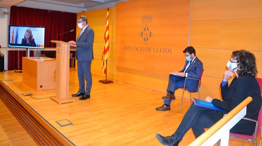 Presentat el Projecte Estratètic per a la transformació de Lleida, l'Alt Pirineu i Aran. Foto: Diputació de Lleida