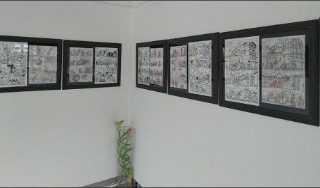 Planxes de Superlópez exposades al Museu La Massana Còmic
