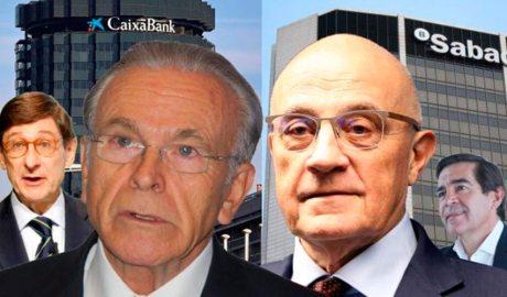 Els banquers espanyols Goirigolzarri, Fainé, Oliu i Torres