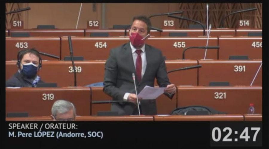 Pere López al Consell d'Europa