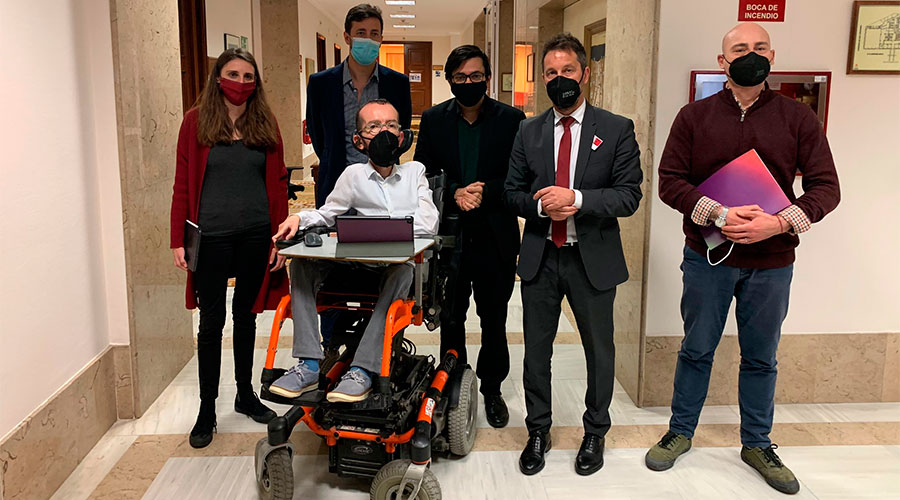 Pere López amb representants polítics espanyols