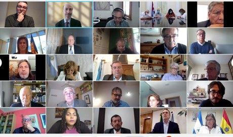 Participants a una reunió telemàtica del Consell Universitari Iberoamericà