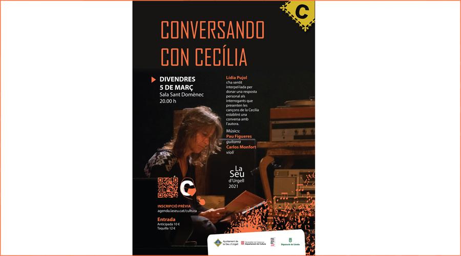 Cartell del concert de Lídia Pujol a la Seu d'Urgell