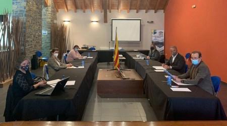 Reunió a Sort de les presidències dels consells comarcals del Pirineu i el Conselh Generau d'Aran (Foto: CCPS)