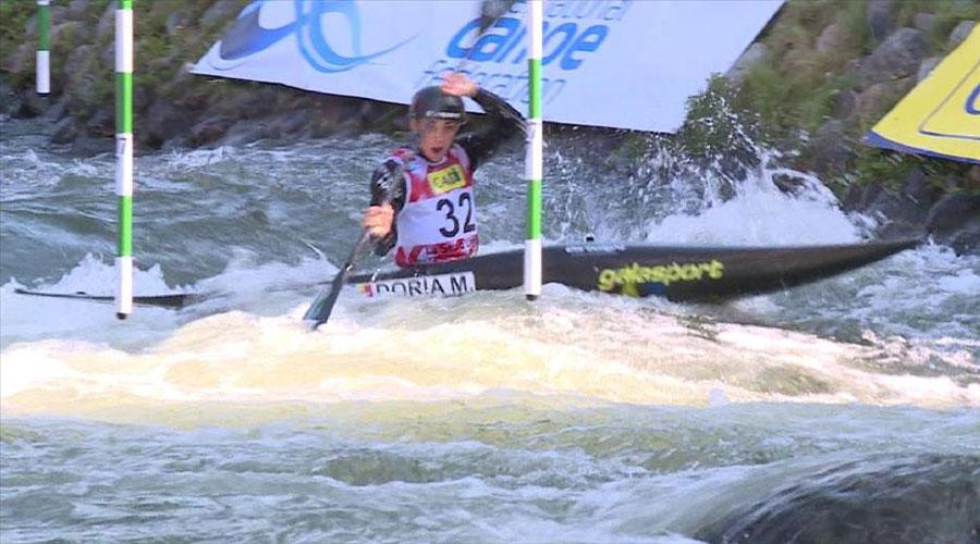 Mònica Doria competint