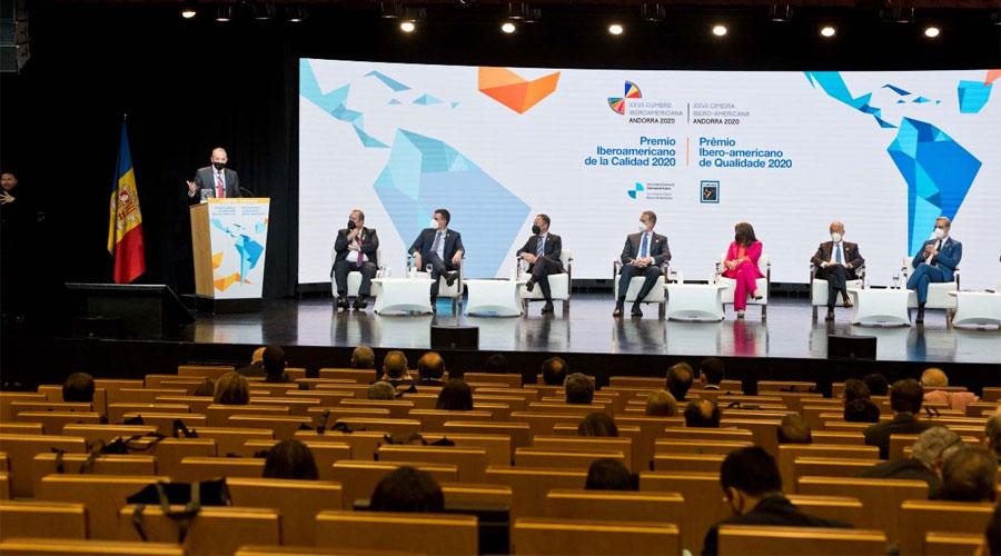 Un moment de la clausura de la Trobada Empresarial Iberoamericana