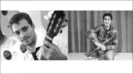 David Font, a la guitarra, i Unai Gutiérrez, al clarinet