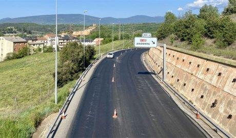 La N-260 amb asfalt nou