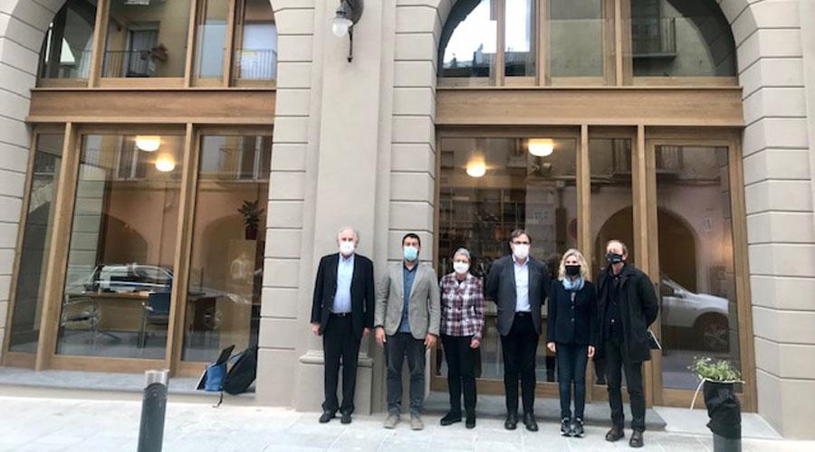 Delegació del COAC visitant les instal·lacions de la Seu d'Urgell