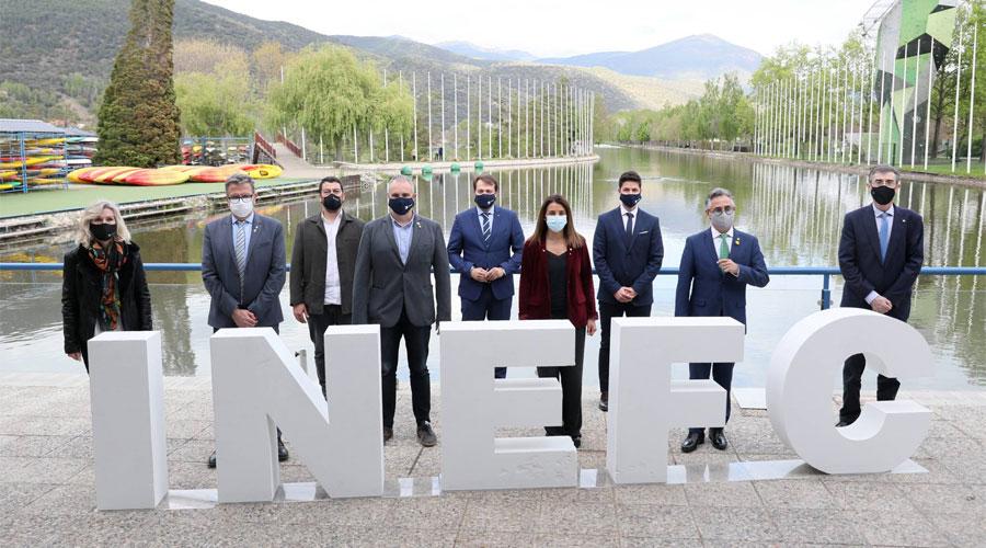 Acte de presentació d'INEFC-Pirineus al Parc del Segre de la Seu d'Urgell. Foto: Gencat