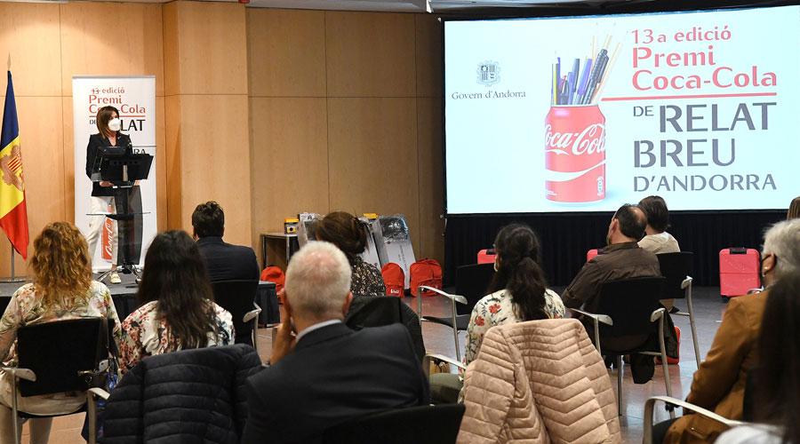 Vilarrubla a l'entrega del Premi Coca-cola de relat breu