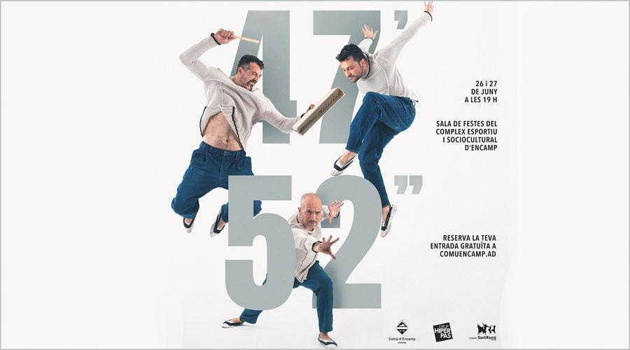 "Publicitat de l'espectacle '47' 52""' de l'Esbart Sant Romà"