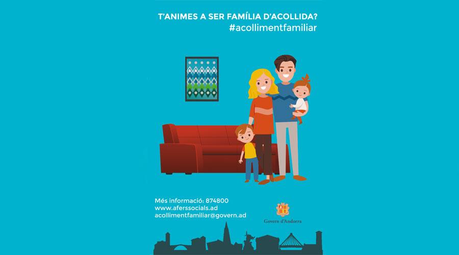 Cartell de la campanya de promoció de l'acolliment familiar