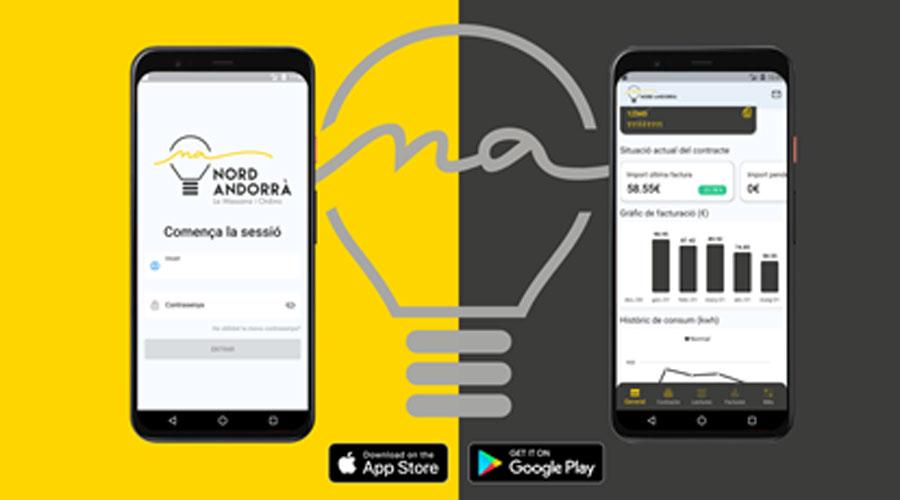 Imatge de l'aplicació mòbil de Nord Andorrà