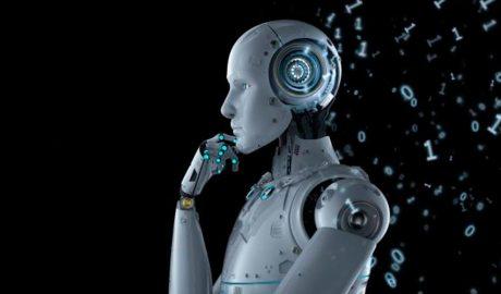 Robot pensatiu.