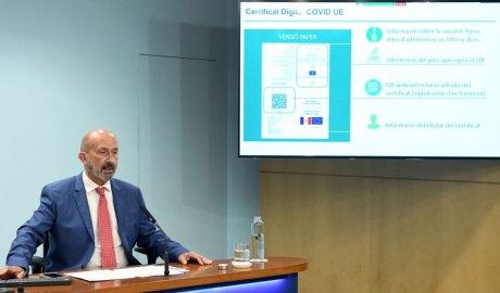 Martínez Benazet explica el certificat Covid