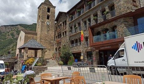 La plaça Major d'Ordino