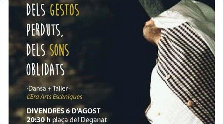 Part del cartell de l'espectacle 'Dels gestos perduts, els sons oblidats'