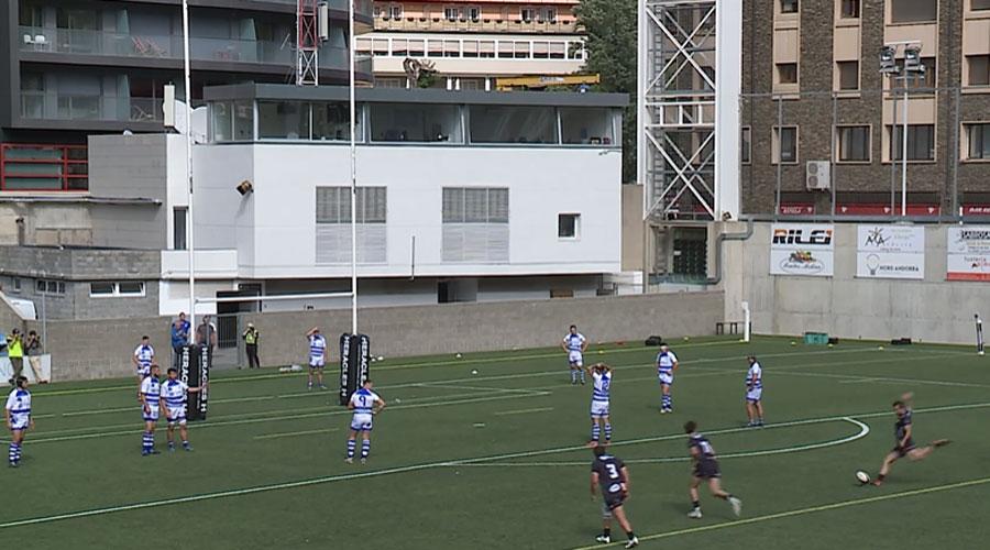Un moment del partit VPC Andorra vs Montredon