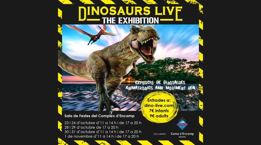 Exposició de dinosaures a Encamp