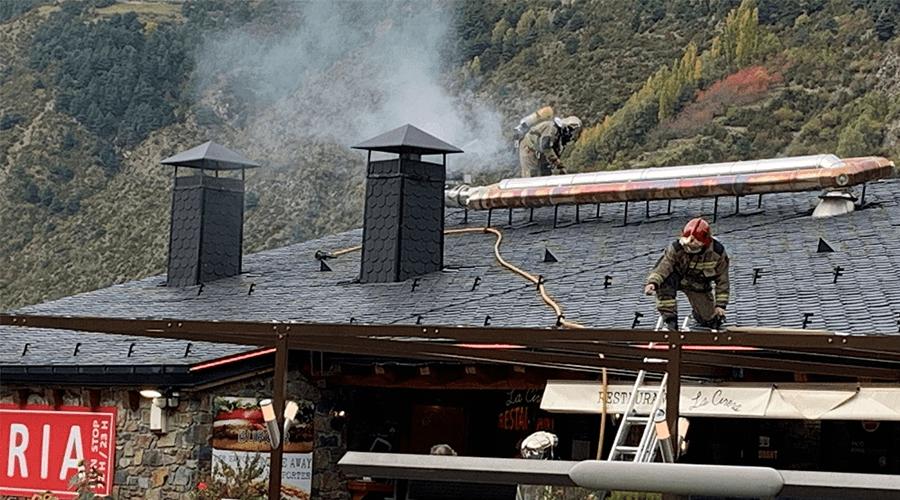 Incendi en un restaurant
