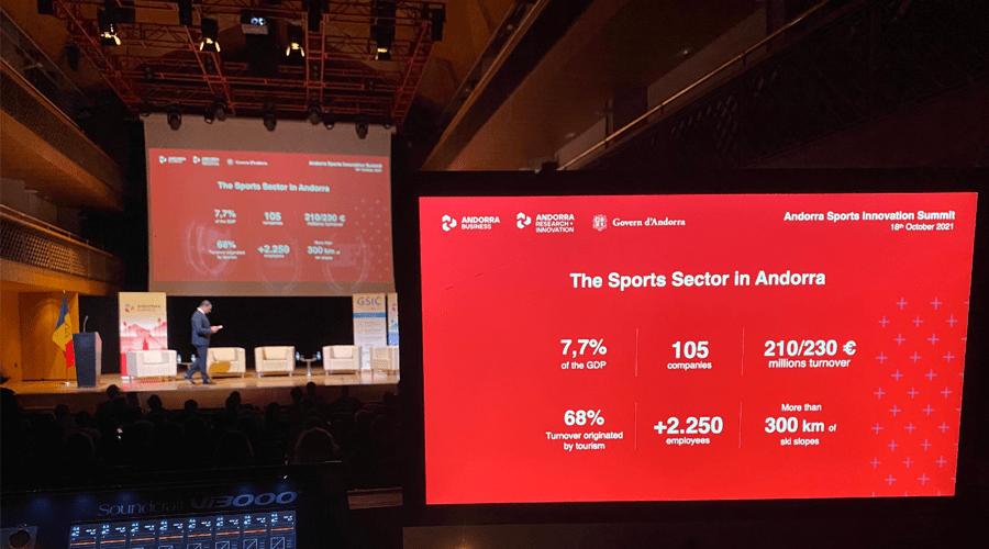 Jordi Gallardo a l'Andorra Sports Innovation Summit
