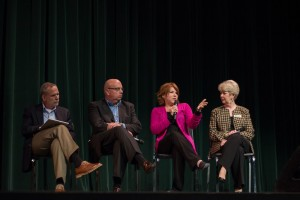 "Panelists discuss ""Not My Life"" following a screening of the documentary."