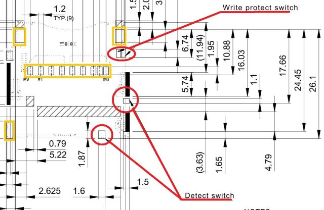 Conn_SD Write Protect and Detect Switch Pins?  Duet26D