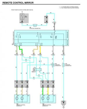 Anyone have a wiring diagram for the power mirrors on a
