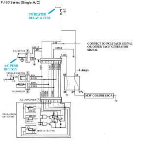 V8 Swap Compressor with Toyota AC wiring diagram | IH8MUD