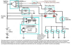 Internal wiring of BJ40BJ42HJ42 glow relay (Manual glow