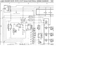 Internal wiring of BJ40BJ42HJ42 glow relay (Manual glow