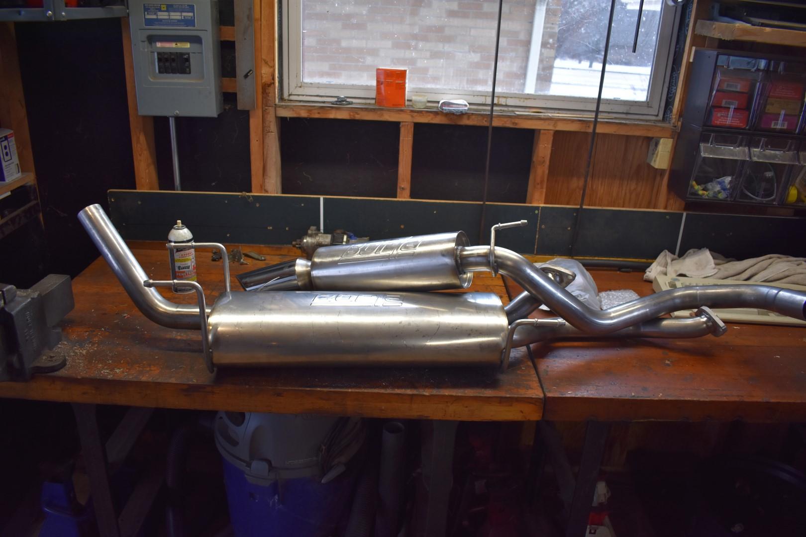 borla 14814 exhaust install with pics