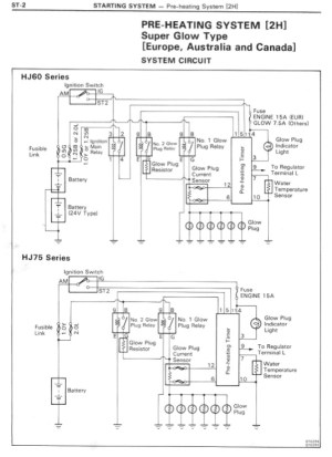 HJ60 PreHeating System Wiring Diagram | IH8MUD Forum