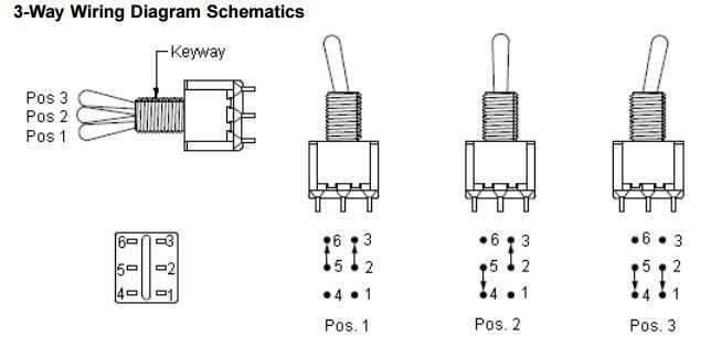 help needed for a 3pos dpdt switch  servo controllers and