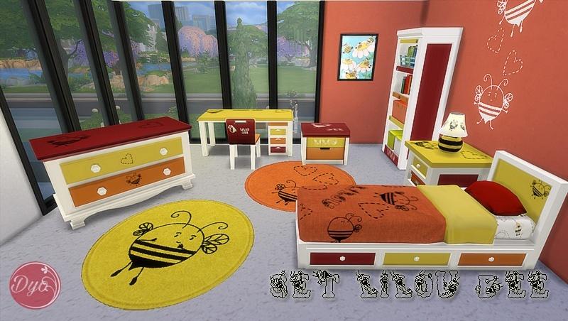 Sims 4 Set Lilou Bee Chambre Enfants Bedroom Children Sims4fr Communaute Sur Les Sims