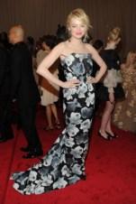 Emma Stone, in Lanvin.