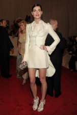 Hilary Rhoda, in Alexander McQueen, with Fenton jewels and an Alexander McQueen clutch and shoes.