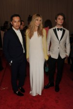 Phillip Lim with Oh Land, in 3.1 Phillip Lim, and Shiloh Fernandez, in 3.1 Phillip Lim.