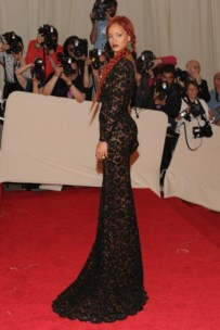 Rihanna, in Stella McCartney, with Wilfredo Rosado jewels.
