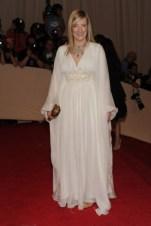 Sarah Burton, in Alexander McQueen, with Fred Leighton jewels.