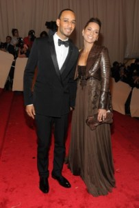 Swizz Beatz, in Givenchy by Riccardo Tisci, with Alicia Keys, in Givenchy Haute Couture by Riccardo Tisci.