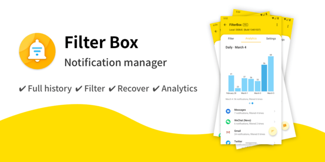 FilterBox Notification manager
